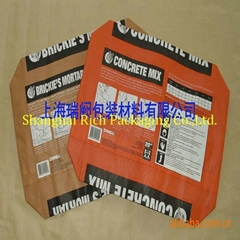 25kg 50kg kraft paper bag with valve port for cement