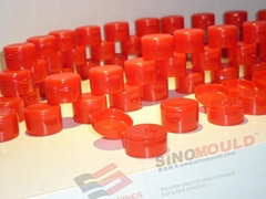 Flip top cap mould of 8 cavity