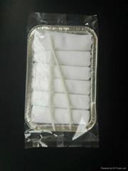 Cotton terry plain disposable airline refreshing lemon wet towels