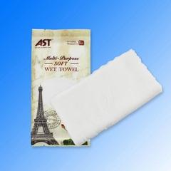100% cotton disposable refreshing wet towel oshibori towel for restaurant