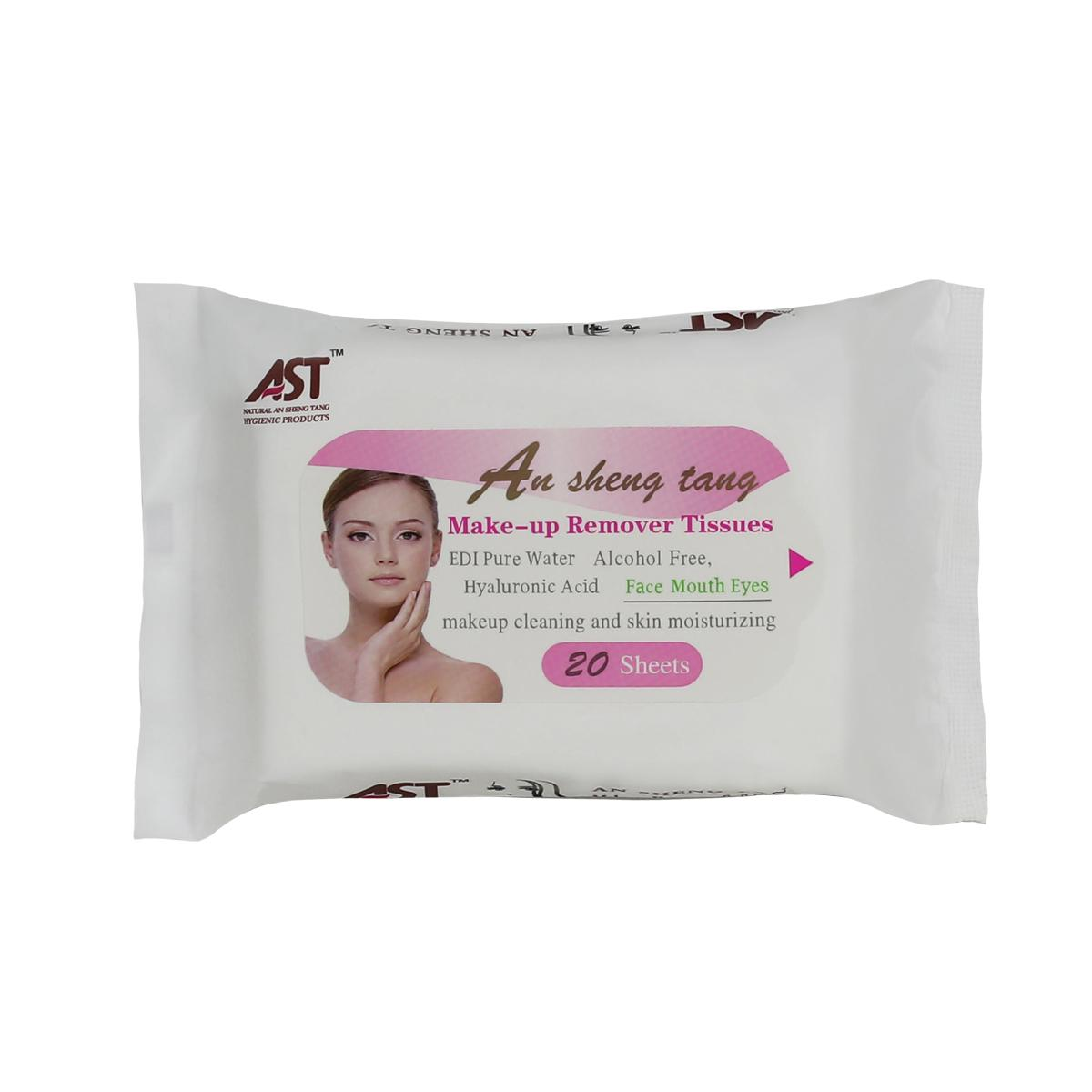 Popular fragrance free alcohol free make-up remover facial wet tissue  2