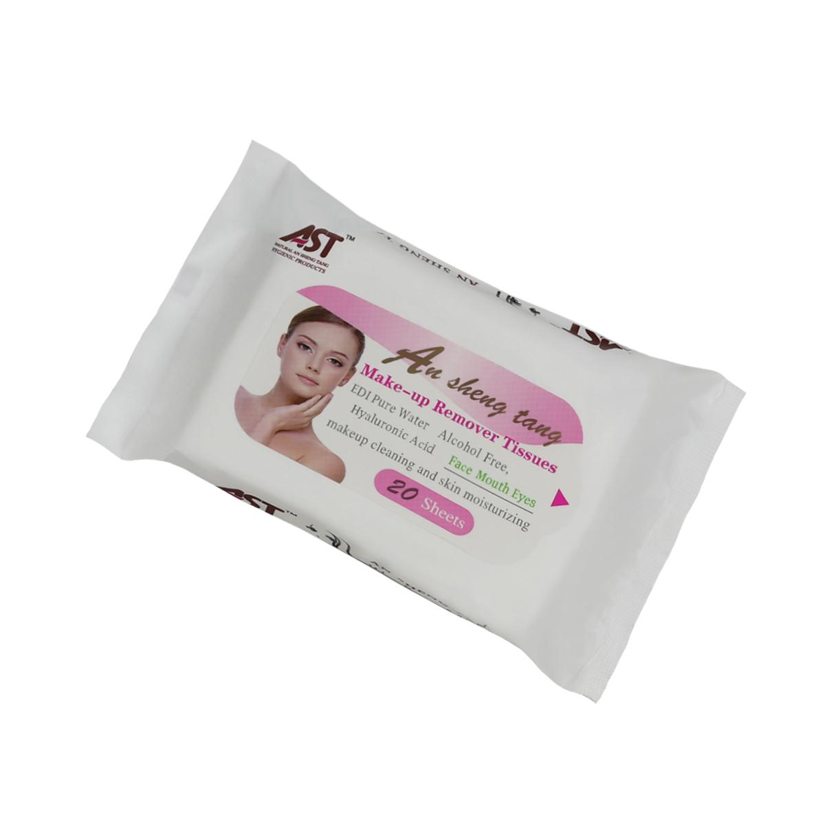 Popular fragrance free alcohol free make-up remover facial wet tissue  5