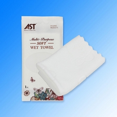 High absorbency cotton disposable microfiber wet towel