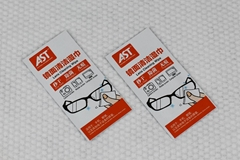 Wet Strength paper material disposable lens and glasses wet wipes