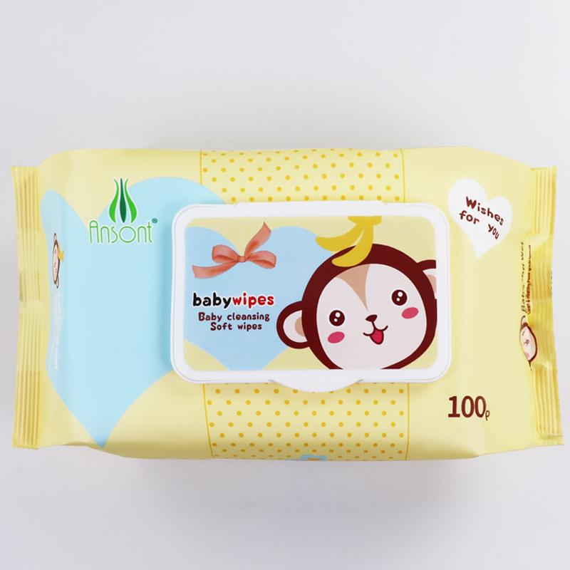 Baby flushable disinfectant antibacterial band facial cleaning 80 pcs water wipe 1