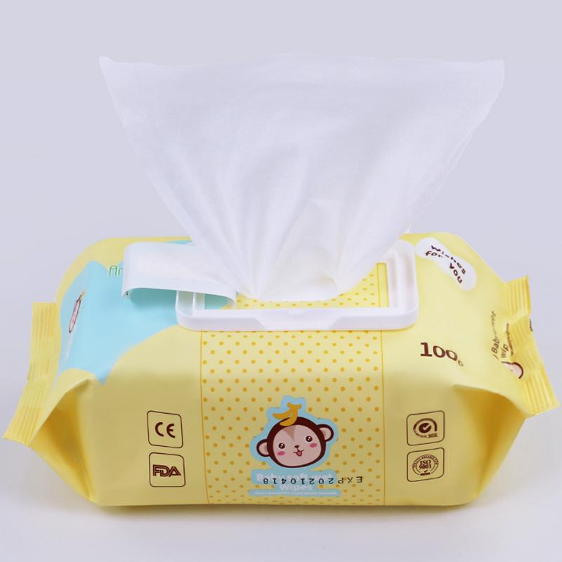 Baby flushable disinfectant antibacterial band facial cleaning 80 pcs water wipe 3