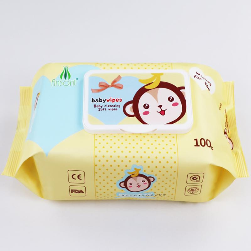 Baby flushable disinfectant antibacterial band facial cleaning 80 pcs water wipe 4