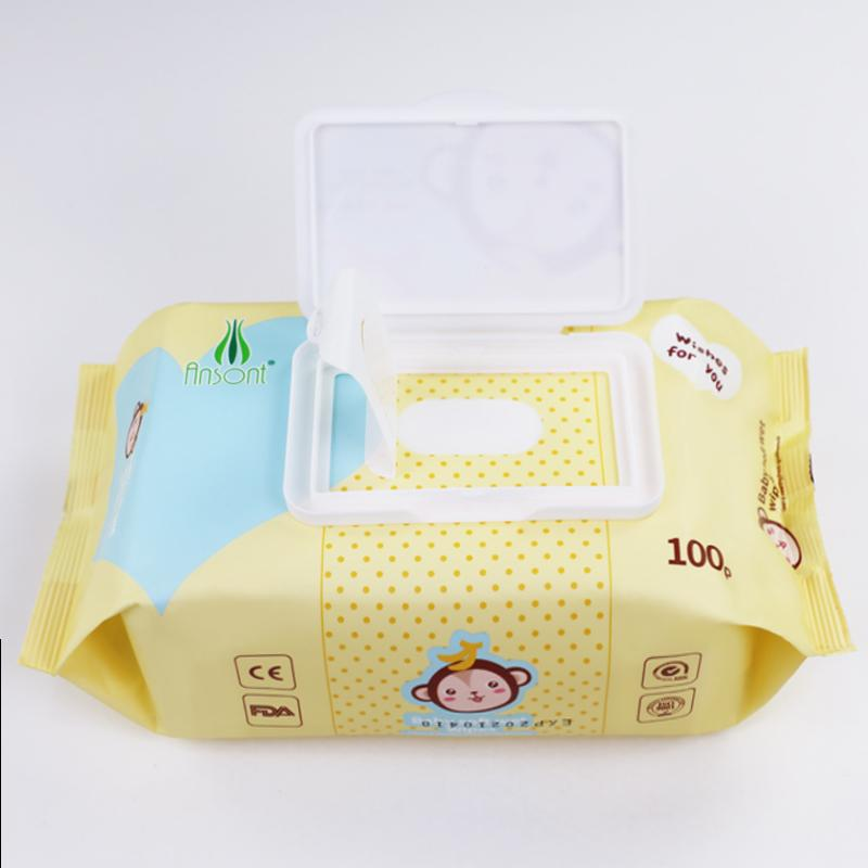 Baby flushable disinfectant antibacterial band facial cleaning 80 pcs water wipe 5