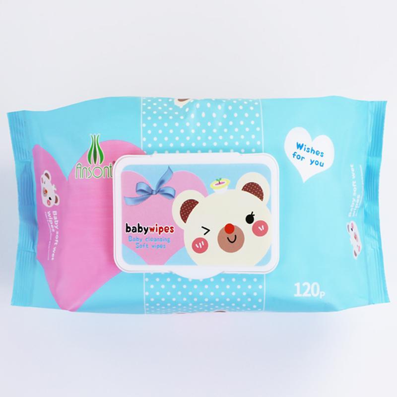 wholesale Customized fragrance120 pcs baby wet wipes  1