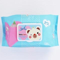 wholesale Customized fragrance120 pcs baby wet wipes