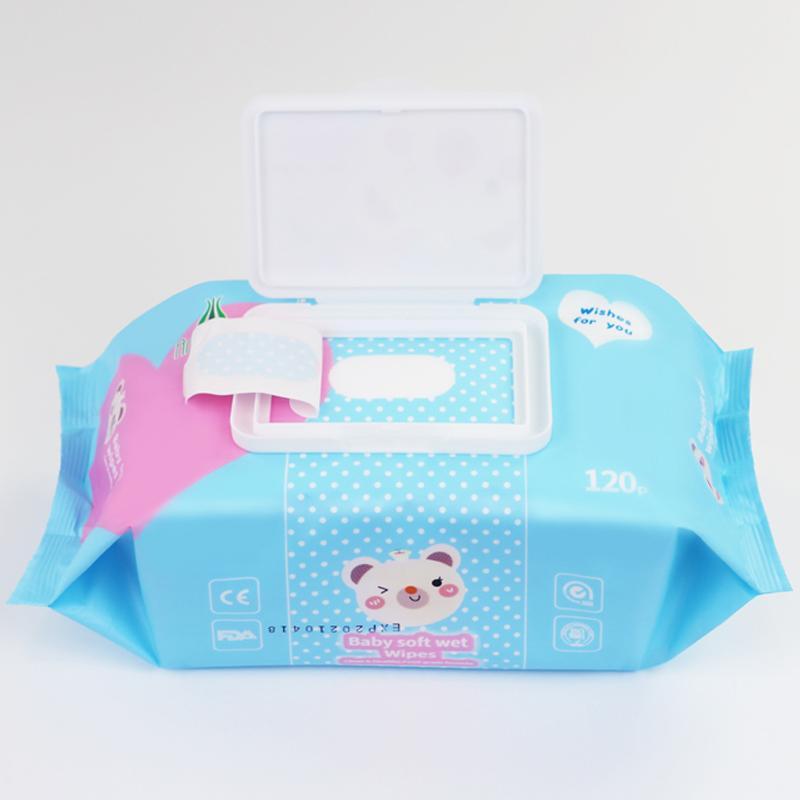 wholesale Customized fragrance120 pcs baby wet wipes  2