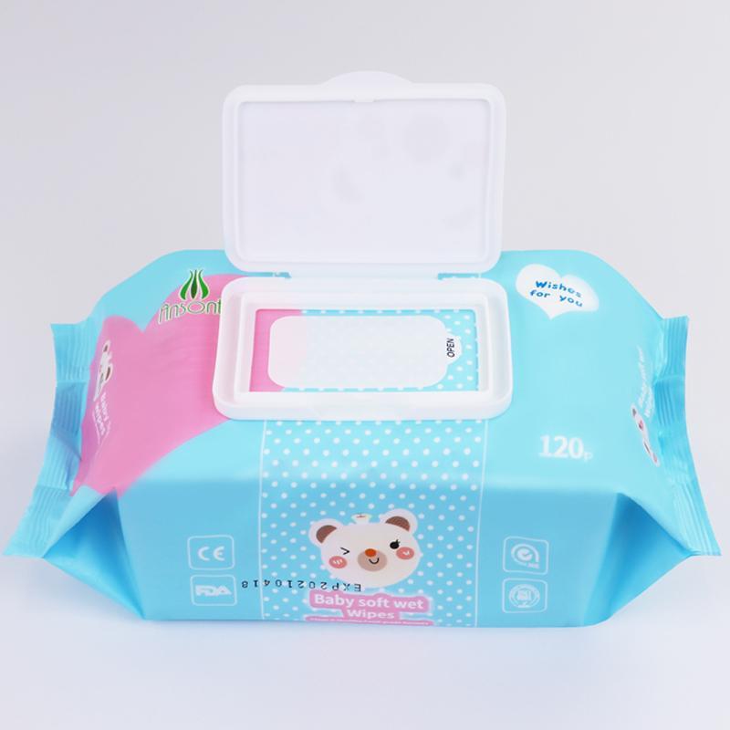 wholesale Customized fragrance120 pcs baby wet wipes  3
