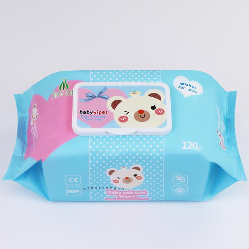 wholesale Customized fragrance120 pcs baby wet wipes  4