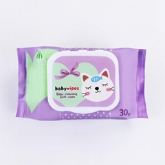 China factory bamboo non-woven organic baby wet wipes
