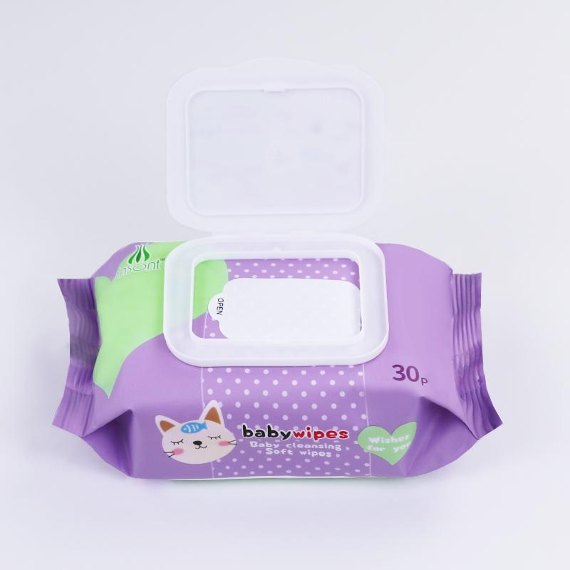 China factory bamboo non-woven organic baby wet wipes  2