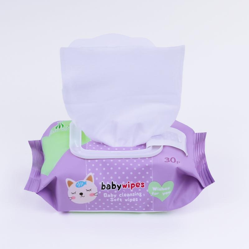 China factory bamboo non-woven organic baby wet wipes  3
