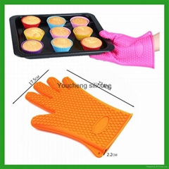 硅胶防烫手套