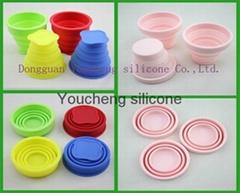 硅胶便携式折叠杯