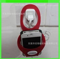 硅胶手机充电挂套