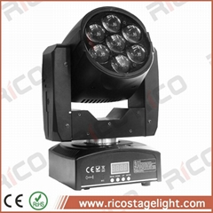 party lighting rgbw 4 in 1 zoom wash 7x12w mini led moving head