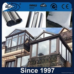 one way vision privacy heat reduction building film for door glass