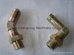 Changrong hydraulic hose straight elbow tee fitting made in china