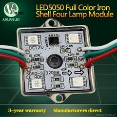 Professional full color 4pcs 5050 led module for light box cornering light modul