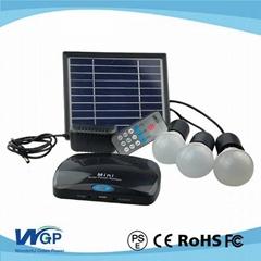 Portable 3w mini solar power system,solar  kits for  home lighting