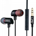 High quality Metal earphone for iphone