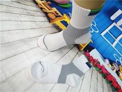 毛圈運動男襪中筒提花襪