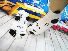 森系卡通提花直筒女時尚女襪