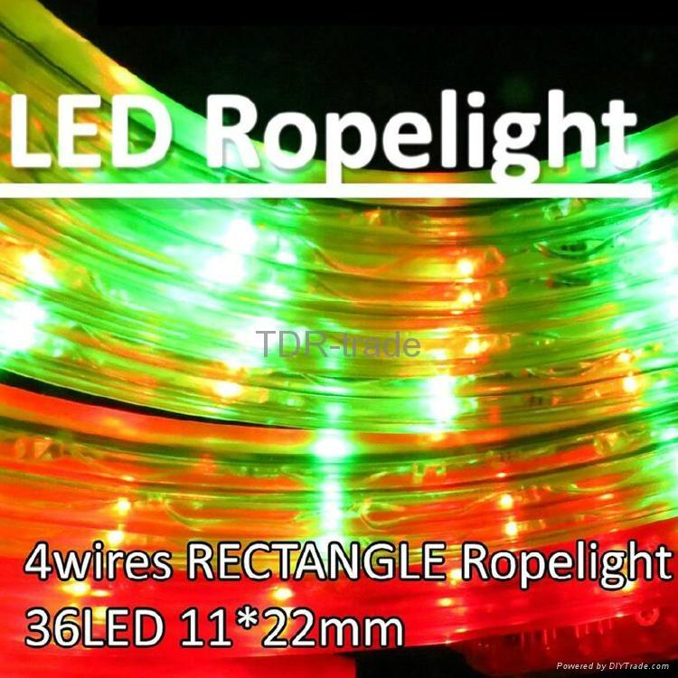 4 wires LED flexible Rectangle rope light IP44 outdoor/indoor 1