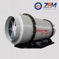 Triple pass rotary drum dryer or three cylinder dryer