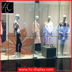 Wooden flower window display material for shop window decoration