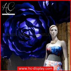 2017 Shop Window Display Custom Display Fibergalss Large Flower display Prop for