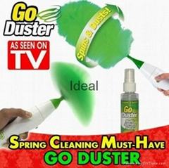 Rechargeable go duster spinning revolving electric nylon duster