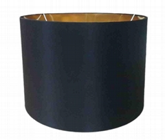 Drum Black Gold Inner Lamp Shade