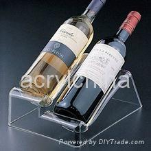 customized design acrylic Red wine rack