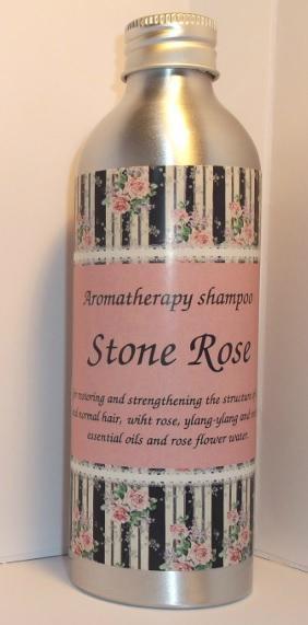 "Organic and regenerating aromatherapy shampoo ""Stone Rose"" 1"
