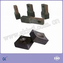 bimetallic high chromium molybdenum white iron shredder tips hammer tips