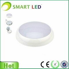 IP54 emergency led oyster ceiling light with Microwave sensor