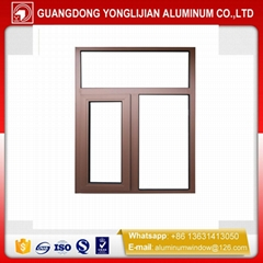 China wood grain Aluminum casement window & door manufactuer