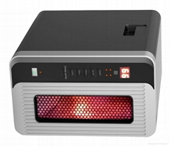 Portable Infrared Quartz Heater w/ Remote 1500 Watts