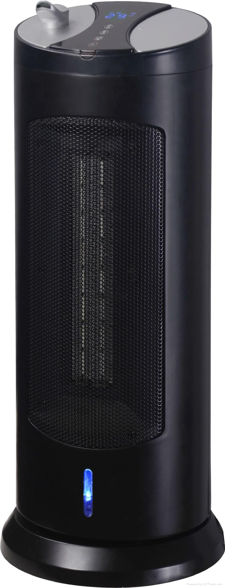Ceramic Tower Heater with Digital Display and Remote Control 1