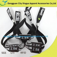 2016 fashion wholesale factory price active RFID woven wristband for gym