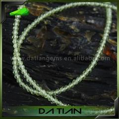 天然橄榄石珠子项链