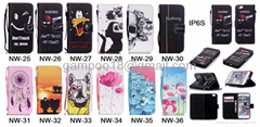 New Pattern Wallet Flip Card Slot Stand Leather Card Phone Case Cover For iPhone