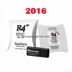 2016 R4i SDHC Dual Core White Card R4i gold For 3DS DSI XL LL NDSL NDS with RTS