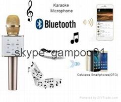 Wireless Bluetooth Handheled KTV Karaoke Microphone USB Player Speaker