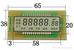 Monochrome segment LCD display
